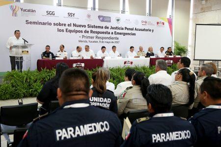 EQUIPOS DE PRIMERA RESPUESTA DEL ESTADO SE CAPACITAN EN NUEVO SISTEMA DE JUSTICIA