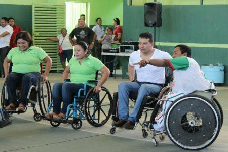 Concientizan sobre la discapacidad en Kanasín con actividad sobre ruedas
