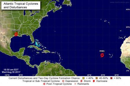 Se forma la tormenta tropical Irma en el Atlántico