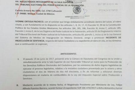 Ivonne Ortega acusa de grave omisión a la Cámara de Diputados