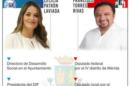 PAN y PRI, con sendos aspirantes únicos por la alcaldía de Mérida