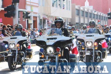 Familias meridanas, fieles al desfile cívico-militar de la Independencia
