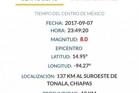 Meridanos reportan haber sentido un temblor esta noche