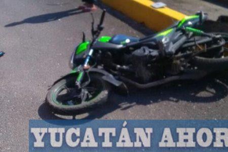 Ni su nombre pudo decir un motociclista accidentado