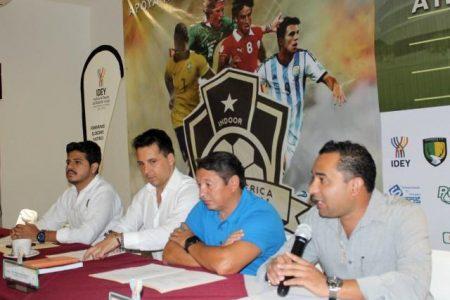 """Anuncian la """"Copa América Yucatán de futbol Indoor"""" en el Polifórum Zamná"""