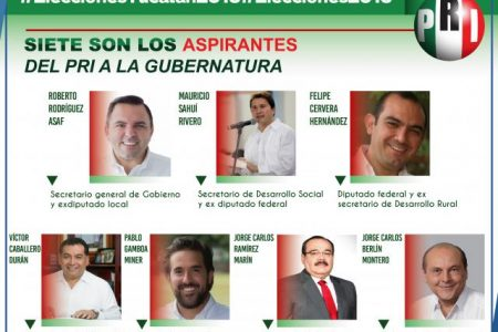 Sucesión en Yucatán: siete priistas van por la gubernatura