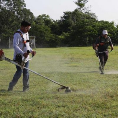 El alcalde de Umán acude a Ticimul a encabezar trabajos de limpieza