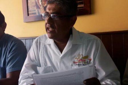 Antorchistas de Yucatán se suman a protesta contra el gobernador de Hidalgo