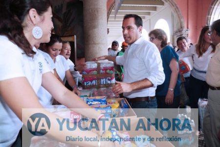 Llama el alcalde de Mérida a donar víveres para damnificados