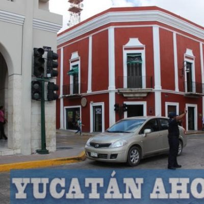 Falla eléctrica deja sin semáforos el centro de Mérida esta mañana