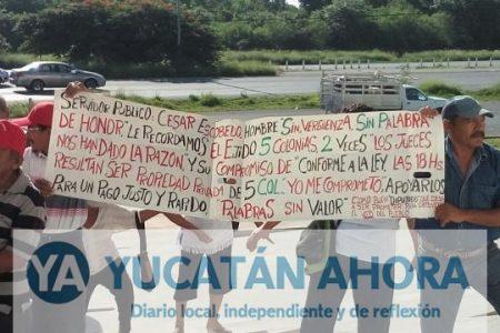 Ejidatarios van al Congreso a pedir se les ayude a cobrar por sus tierras