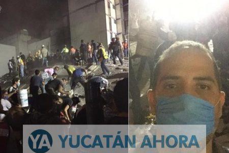 Joven yucateco rechaza vuelo a Mérida y se queda a ayudar a víctimas del sismo