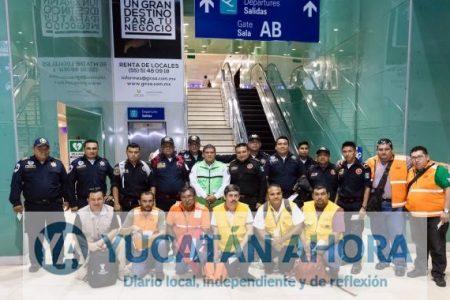 Bomberos y rescatistas de Yucatán viajan en apoyo a CDMX