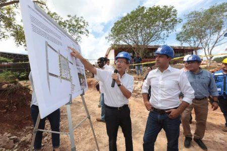 Vila supervisa la construcción del Centro Cultural del Sur