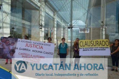 Clausuran Poder Judicial por tortuguismo en caso Emma Gabriela Molina