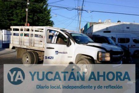Tempraneros choques en el Centro de Mérida