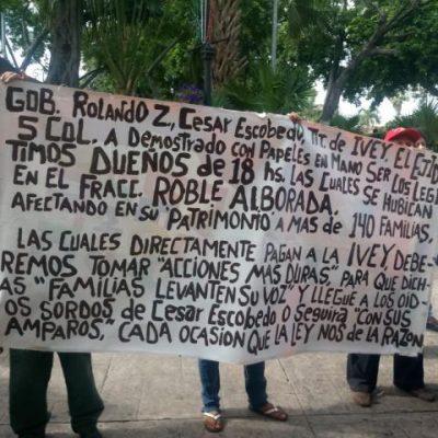 Ejidatarios amenazan a Rolando con castigar al PRI en 2018