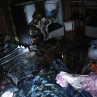 Incendio quema 120 ventiladores de una comerciante