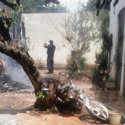 Pierde una moto, tres lavadores y dos refrigeradores en un incendio