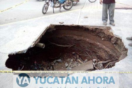 Socavón en comunidad del sur de Yucatán