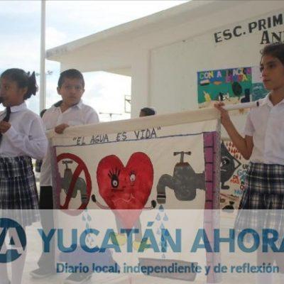 Estudiantes de Chicxulub Puerto celebran el Día Interamericano del Agua