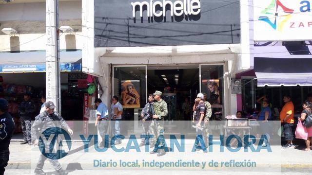 Fuerzas federales realizan operativo en el Centro de Mérida