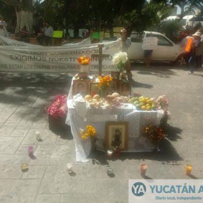 Crecicuentas, altar frente a Palacio y fuerte señalamiento contra el gobernador