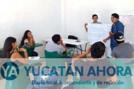 En albergue cultural inician clases, buscan que les construyan preparatoria en Kanasín