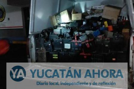Decomisan cargamento de residuos peligrosos en Mérida