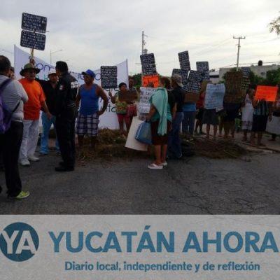Protestan vecinos de San Antonio Kaua III, no quieren ser de Kanasín