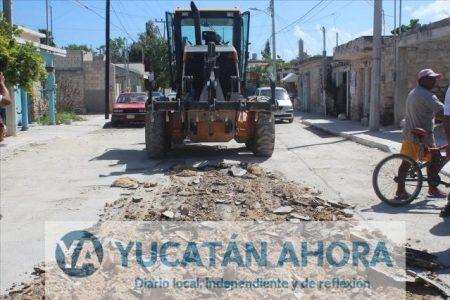 Reconstruyen la infraestructura vial en Progreso