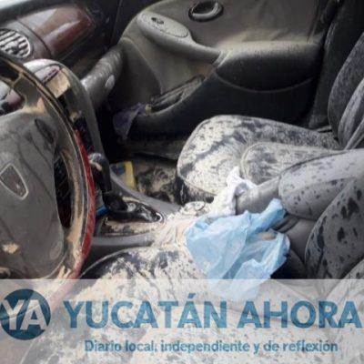 Se quema un automóvil en la colonia Emiliano Zapata Sur