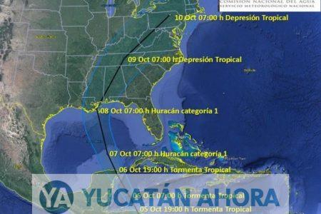 Nate se mantiene como tormenta tropical frente a Quintana Roo