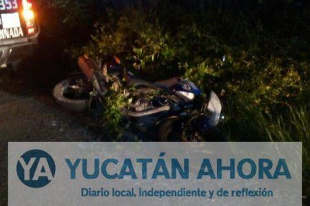 Motociclista que derrapó ebrio en carretera, se encuentra grave