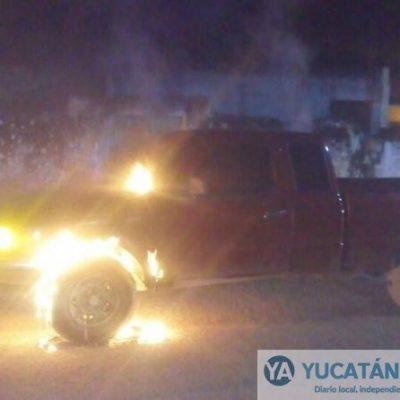 Se le quema su camioneta minutos después de dejarla estacionada