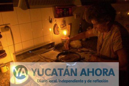 CFE deja sin luz amplia zona del oriente de Mérida
