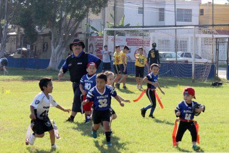 Inauguran X edición de la liga de tochito bandera infantil en el 'Iches Burgos'