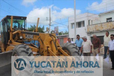 Repavimentan importante calle en Progreso