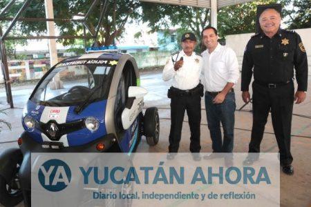 Compran dos patrullas eléctricas más para vigilar el centro de Mérida