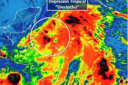 Se forma frente a la Península de Yucatán la depresión tropical 18