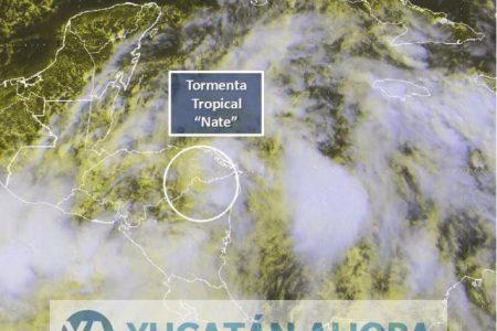 Nate, próxima a salir al mar en su ruta a la Península de Yucatán