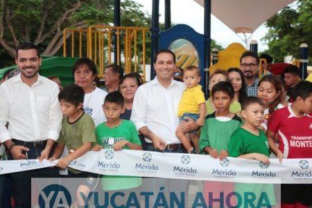 Mauricio Vila entrega los trabajos de rehabilitación del Parque de Xcumpich