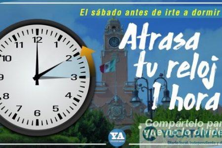 Este domingo concluye el horario de verano, retrasa una hora el reloj