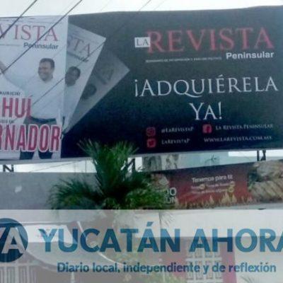 "Bajan anuncios espectaculares de la campaña ""Sahuí Gobernador"""