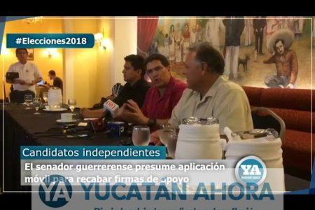 Con aplicación móvil, candidatos independientes recaban firmas de apoyo