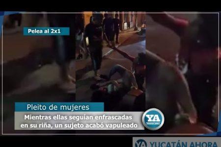 Peleas al 2×1 el centro de Mérida… y nadie llamó a la Policía