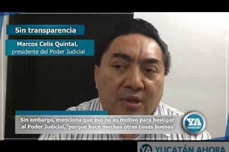 Celis: Rezago de 480 días en transparencia no es motivo para hostigar al Poder Judicial