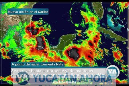 Se fortalece disturbio en el Caribe, crece a 90% su probabilidad de ser ciclón tropical