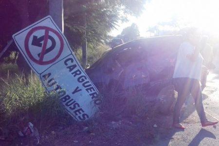 Choque en el Periférico de Mérida deja lesiones a puras mujeres