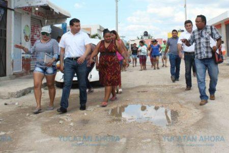 Anuncian rehabilitación de calles en fraccionamientos Valle Oriente y Encinos II de Kanasín